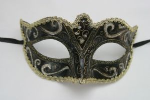 Black Silver Gold & Bronze Sparkling Mask | Masks and Tiaras